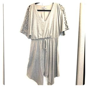 EUC bailey blue gray dress L